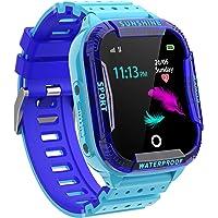 Kinder Intelligente Uhr Wasserdicht, Smartwatch WiFi Tracker mit Kinder SOS Handy Touchscreen Spiel Kamera Voice Chat…