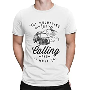 Herren T-Shirt The Mountains Are Calling and I Must Go