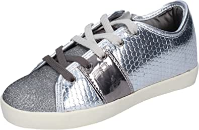 Enrico Coveri Sneaker Bambina Tessuto Argento