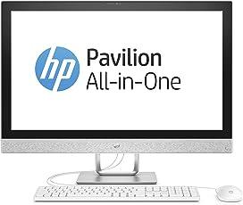 HP Pavilion 27-r061ng 68,6 cm (27 Zoll / 4K-IPS) All-in-One Desktop-PC (Intel Core i7-7700T, 128GB SSD, 1TB HDD, 16GB RAM, AMD Radeon 530 Grafik, Windows 10) weiß