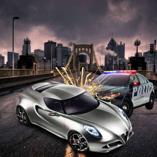 Police Car Vs Furious Racer City Racing Edition - Unleashed Marines