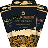 Greenbrrew Instant Green Coffee 'STRONG FLAVOR' for Weight loss - 20 Sachets/Per Pack (60g x Pack of 3)