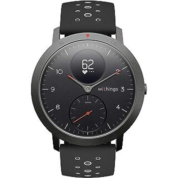 Withings Steel HR Sport Reloj Inteligente Híbrido, Unisex Adulto, Negro, 40 mm