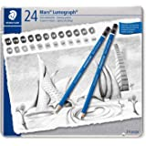 Staedtler Mars Lumograph Degree Pencil Set in 24 Degrees from 10H to 12B (Pack of 24)