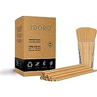 Ydoro   Pailles en Papier 400 pcs.   Pailles en Papier Kraft biodégradable   Pailles à Boire en Papier jetables…