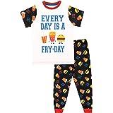 Harry Bear Pijamas de Manga Corta para niños Todos los días es día de Comida frita