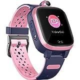 4G Smart Horloge voor Kinderen - GPS Smartwatch met Waterdichte Real Time Positie WIFI Vedio Call Bericht Stappenteller Geo-F