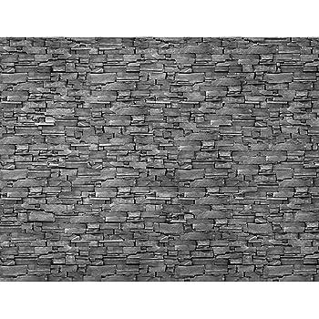 fototapete steinwand 3d effekt grau 396 x 280 cm vlies wand tapete wohnzimmer schlafzimmer b ro. Black Bedroom Furniture Sets. Home Design Ideas