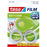 tesa MINI DISPENSER ecoLogo + 2 x tesa ECO & CLEAR 10M x 19MM, groen