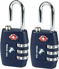 Texas USA Metal Luggage TSA Lock(Navy Blue) - Pack of 2