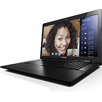 Lenovo G70-80 43,9 cm (17,3 Zoll HD+) Multimedia Laptop (Intel Core i3-4005U, 1,7GHz, 4GB RAM, 128GB SSD, Intel HD Grafik, DVD-Brenner, kein Betriebssystem) schwarz