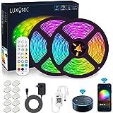 Striscia LED WiFi da 10 m (2 x 5 M), LUXONIC Luce Strisce LED RGB 5050 SMD 300 LED Impermeabile IP65 Multicolore Sincronizzaz