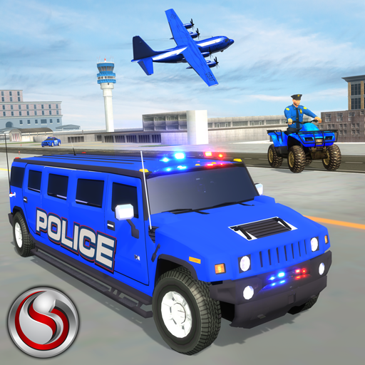 Us Police Hummer Car Transport Plane Game