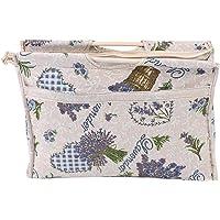 1pc sac fourre-tout à tricoter pratique en bois poignée tissé pull organisateur sac tissé sac de rangement en tissu pour…