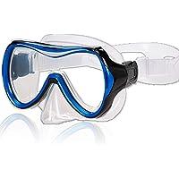 AQUAZON Maui Junior Medium Schnorchelbrille, Taucherbrille, Schwimmbrille, Tauchmaske für Kinder, Jugendliche von 7-14 Jahren, Tempered Glas, sehr robust, tolle Paßform