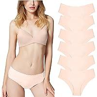 Misolin Culottes Femme Soie Glacée Invisible sans Couture Slips Shorties (Lot de 3/6)