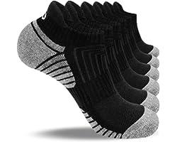 coskefy Trainer Socks Cushioned Running Socks Ankle Socks for Men Women Ladies Cotton Sports Socks Low Cut Athletic Socks (6