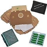 Filterset 30 Staubsaugerbeutel Tüten geeignet Vorwerk Tiger  251 252 Bürsten