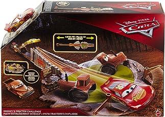 Mattel Disney Cars FLK03 Smokeys Traktor-Trainingspiste, braun