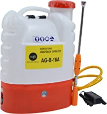 MGA Plastic Battery-Powered Spray Pump AG-B 16A (Red and White)