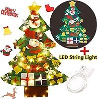 FunPa Fieltro Árbol de Navidad, DIY Decoración del árbol de Navidad Decoración Colgante para Niños 30PCS Ornamento de...