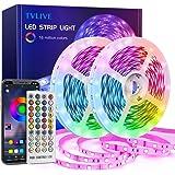 Tiras LED 20M, TVLIVE Luces LED Habitación 5050 RGB, Control Remoto 40 Botones y App, Sincronización Musical, 16 Millones de