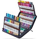 Rotuladores Ohuhu 120 Rotuladores de doble punta para colorear, dibujar o subrayar. Rotuladores para dibujos de caligrafía, b