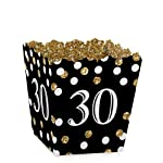 Adult 30th Birthday - Gold - Party Mini Favor Boxes - Birthday Party Treat Candy Boxes - Set of 12