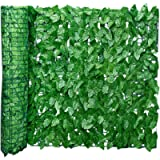 courti Artificial Leaf Screening, Ivy Leaf Hedge Panels on Roll Privacy Garden Fence, Landscaping Garden Fence Balcony…