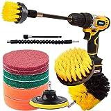 QILERUI Drill Power Lot de 13 brosses de nettoyage multi-usages pour surfaces de salle de bain, carrelage, joint, sol, surfac