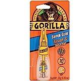 Gorilla Super lijm met borstel & mondstuk applicator, 10 gram, helder, (Pack van 1)