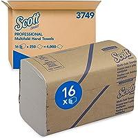 Kimberly Clark Essuie-Mains SCOTT Multifold 3749 - 16 paquets de 250 formats blancs 1 pli