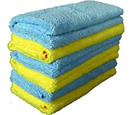 Sheen Microfiber Cleaning Cloth | Cleaning Products | Cleaning Cloth | Cleaning Towels| Cleaning Microfiber | Cleaning Cloth | 30X40 cm | 300 GSM | Pack of 6 |