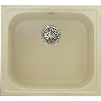 ZINZER Granite/Quartz Kitchen Sink : Single Bowl Matt - Ivory Color ...