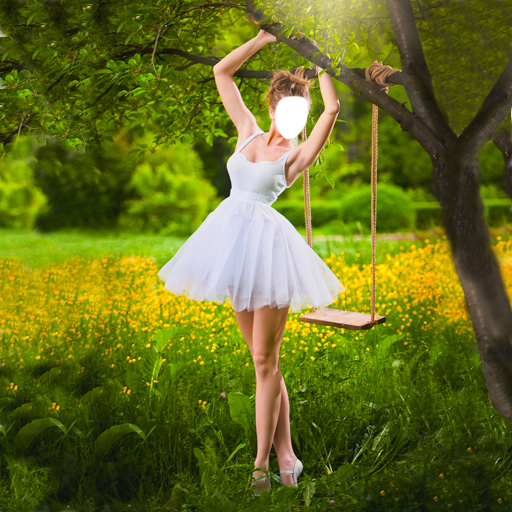 Teenager Ballerina Kostüm - Ballerina-Foto-Montage