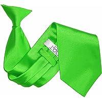 New Plain Satin Men's Clip-On Tie