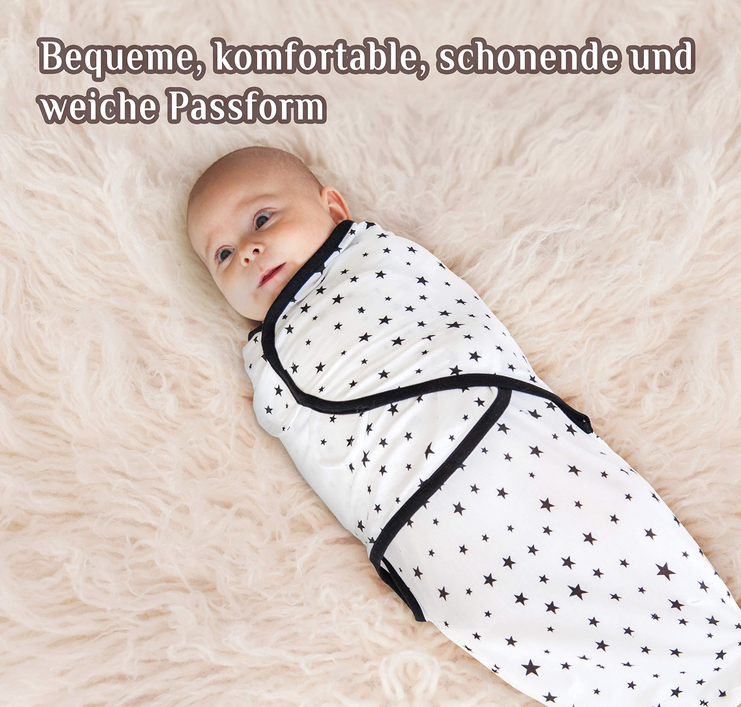Manta Envolvente para Bebé y Recien Nacido – 3x Saco de Dormir Manta de Arrullo Cobija 100% Algodón – Gris 0-3 Meses