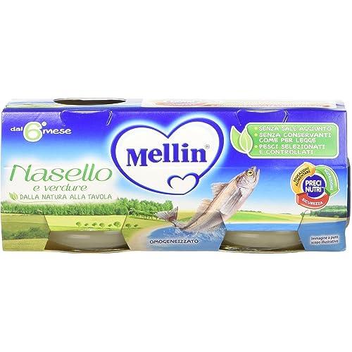 Mellin Omogeneizzato Nasello e Verdure - 24 Vasetti da 80 gr