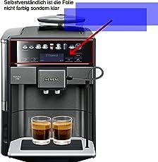 2X Crystal Clear klar Schutzfolie für Siemens TE657509DE S700 Kaffeevollautomat Displayschutzfolie Bildschirmschutzfolie Schutzhülle Displayschutz Displayfolie Folie