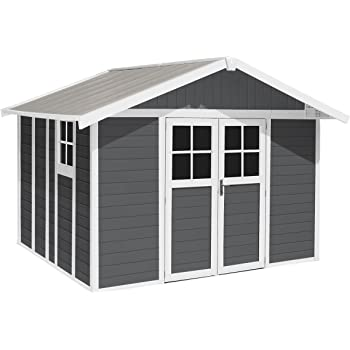 grosfillex abri de jardin pvc deco 11m gris clair. Black Bedroom Furniture Sets. Home Design Ideas