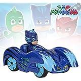 Dickie- PJ Mask Vehículo de juguete con personaje, Color rojo ...