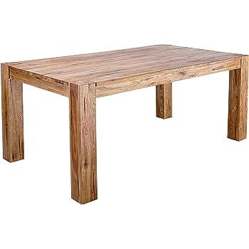 Mein Möbel Wildeiche-T200 Balken-/Massivholz Esstisch 200 x 105 cm ...