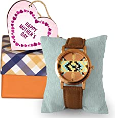 TIED RIBBONS Mothers Day Gifts from Son Wrist Watch with Wooden Tag