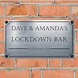 Precision Designs FUN - Lockdown Bar - Aluminium House Sign Personalised For You