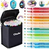 Bolígrafos acrílicos, marcadores acrílicos Ohuhu de 40 colores, bolígrafos de pintura con punta de 0,7 mm para roca, tela, me