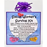 Social Worker's Survival Kit - Fun Novelty Gift & Card Alternative/Birthday/ Keepsake/Thank You/Social Worker Gift
