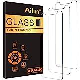 Ailun Skärmskydd av glas kompatibel med iPhone 11/iPhone XR, 6,1 tum 3-pack härdat glas