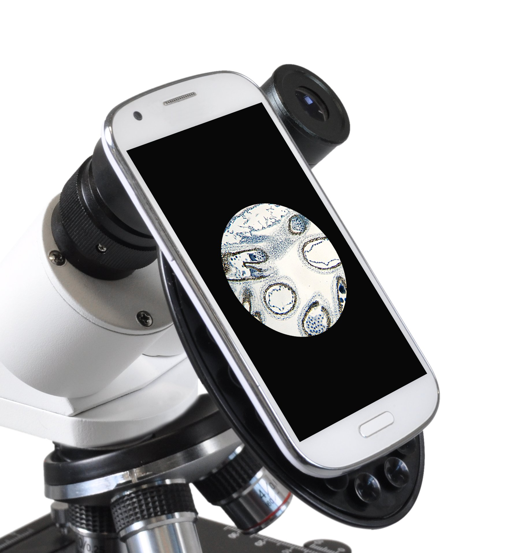 Bresser Microscope Erudit Basic Bino 40-400x Binocular with Smartphone Holder