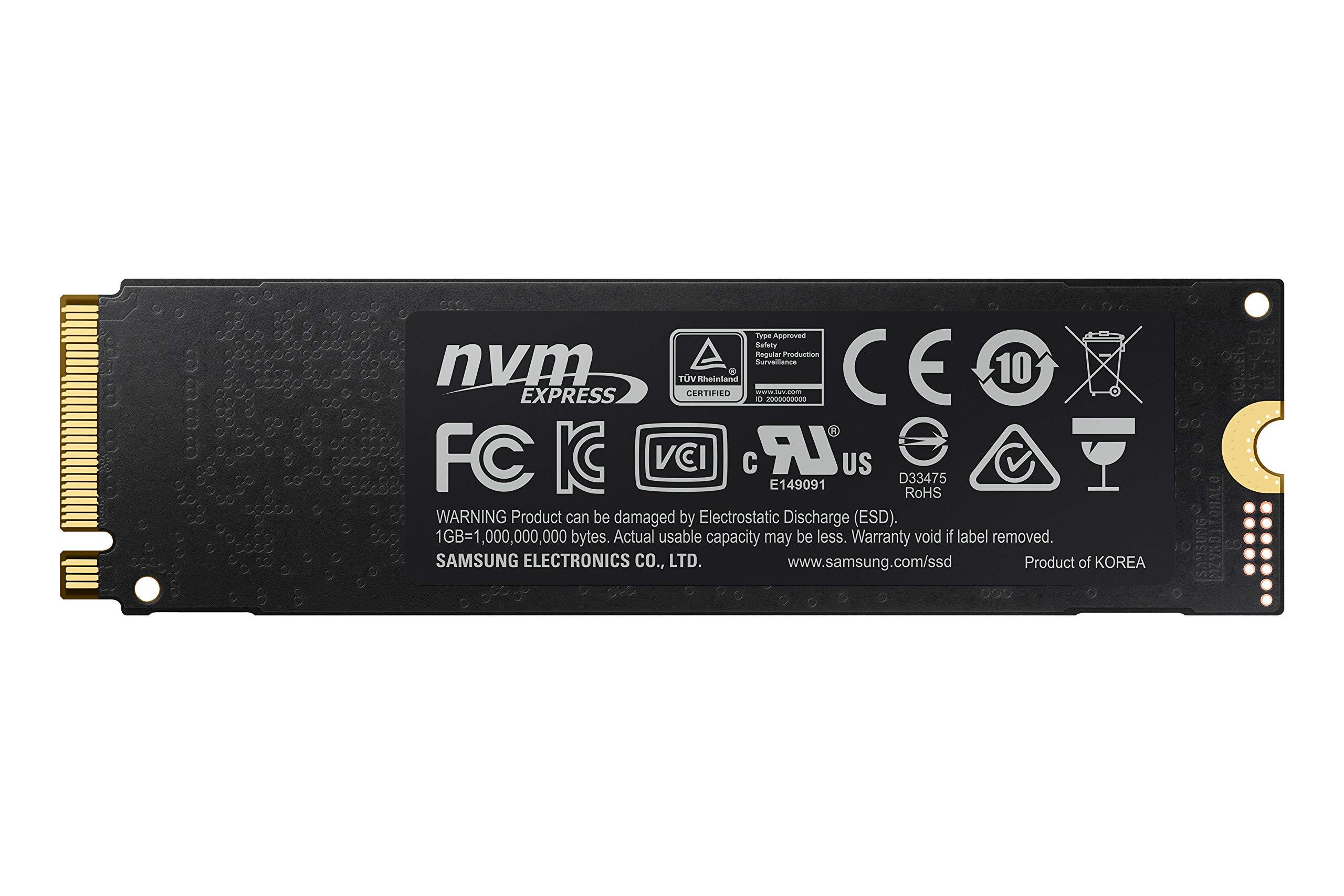 "Samsung MZ-V7S500BW 970 EVO Plus - Unidad SSD, 500GB, M.2, NVMe, tamaño 2.5"", Interfaz SATA 6GB/s, Color Negro/Naranja"