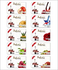 JaipurCrafts Shopies Premium Quality Assorted Herbal (100% Nicotine and Tobacco Free) Hookah Flavors